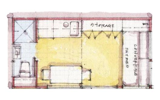 Estudiantes diseñan micro-viviendas sobre la huella de un espacio de estacionamiento, © SCADPad