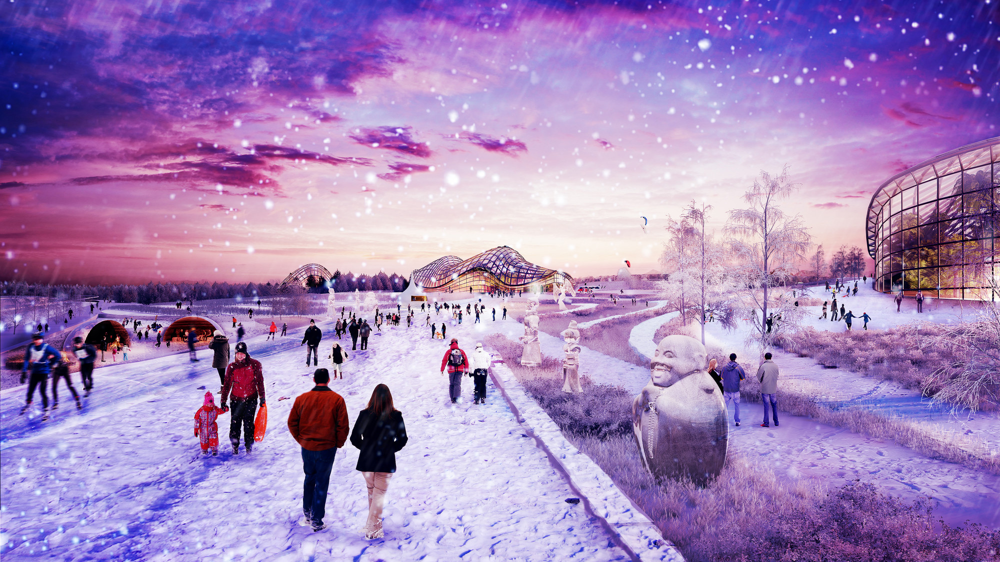 "Gillespies and Feilden Clegg Bradley Studios Win ""Park Russia"" Masterplan, © Gillespies LLP"