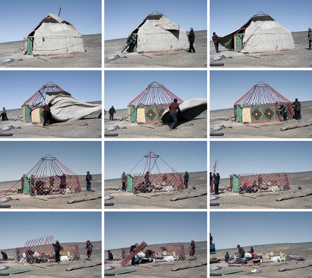 Yurta en desarme. Image © Vía BEMsite.com