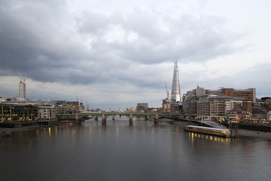 View of The Shard from Millennium Bridge (June 2012). Image © Michel Denancé