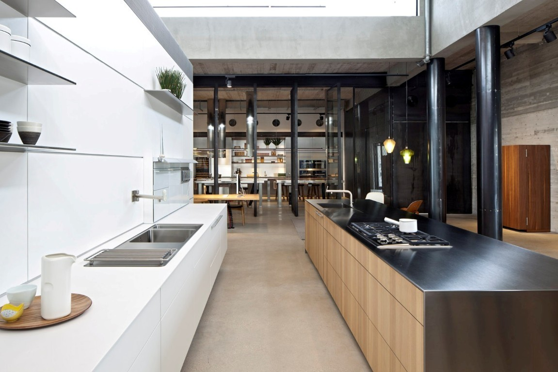 Industrial Office Design besides Recent Projects together with Dinesen Und Bulthaup Die Richtige Kombination additionally Why True also Cuisine Ikea Ilot Central. on bulthaup showroom