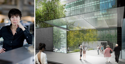 Image of Liz Diller / One of DS + R's early renderings of the MoMA expansion. Image © Iwan Baan / Courtesy of MoMA