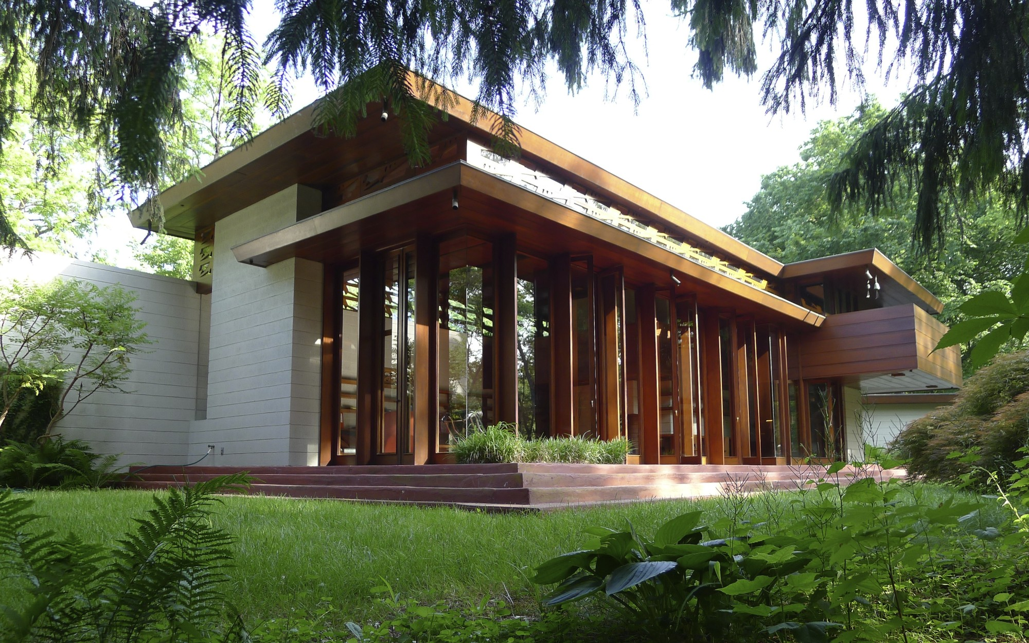Usonian house tag archdaily for Frank lloyd wright usonian home plans
