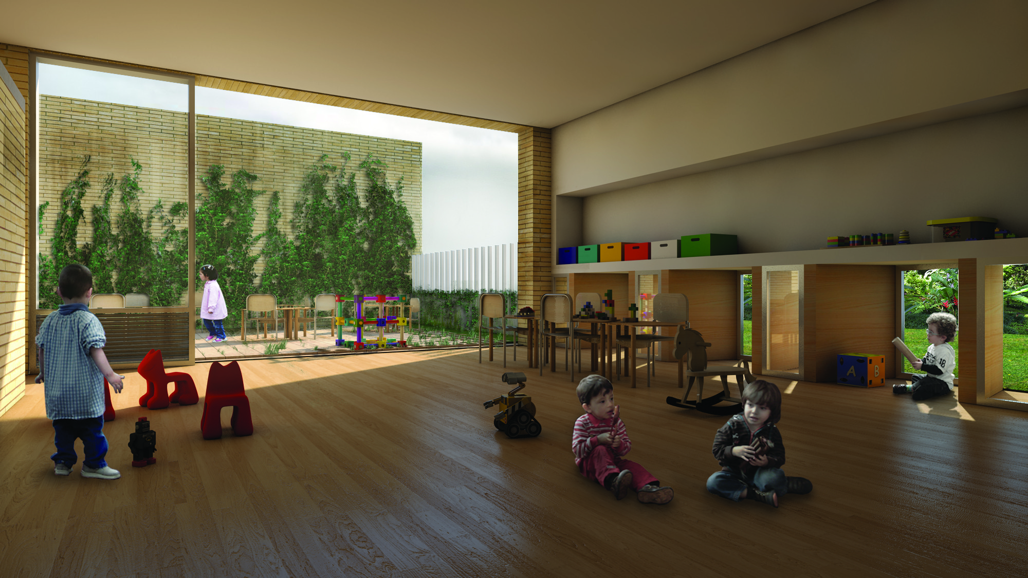 Primer lugar concurso p blico para el dise o de colegios for Aulas web arquitectura