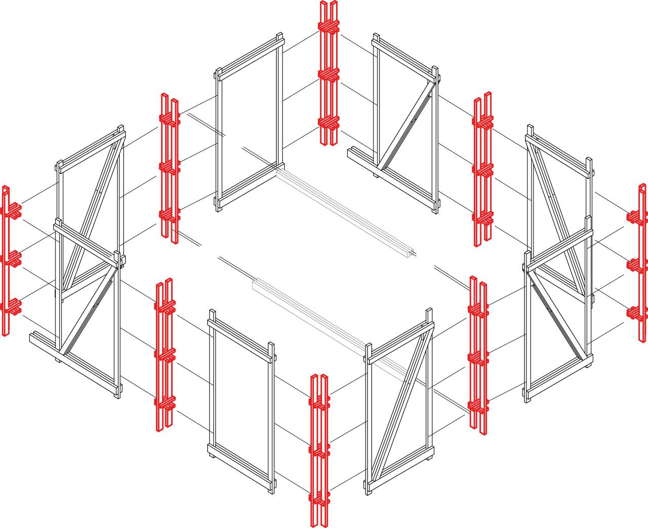 Montaje Estructura. Image © Jorge Aguirre