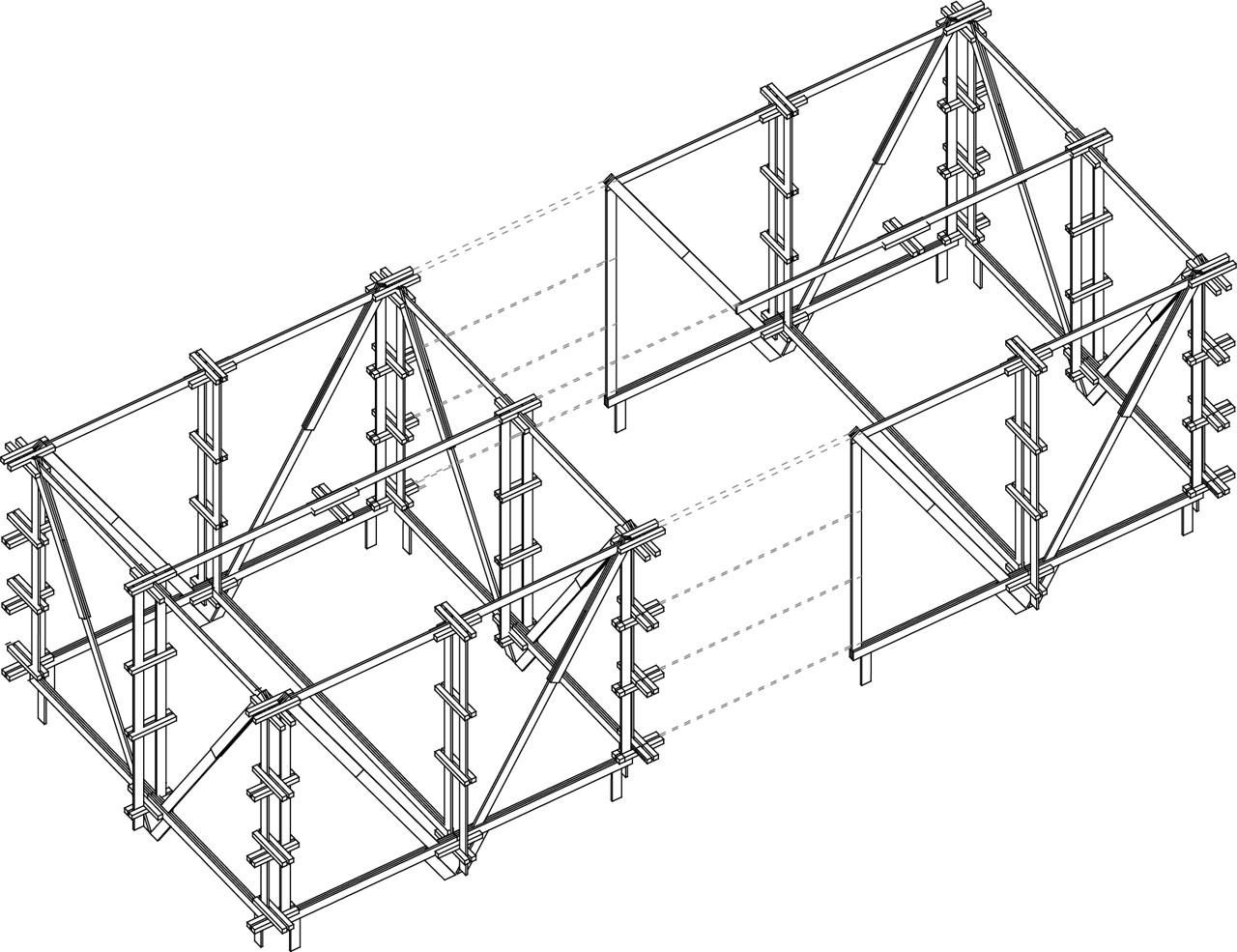 Acoplamiento Estructura. Image © Jorge Aguirre