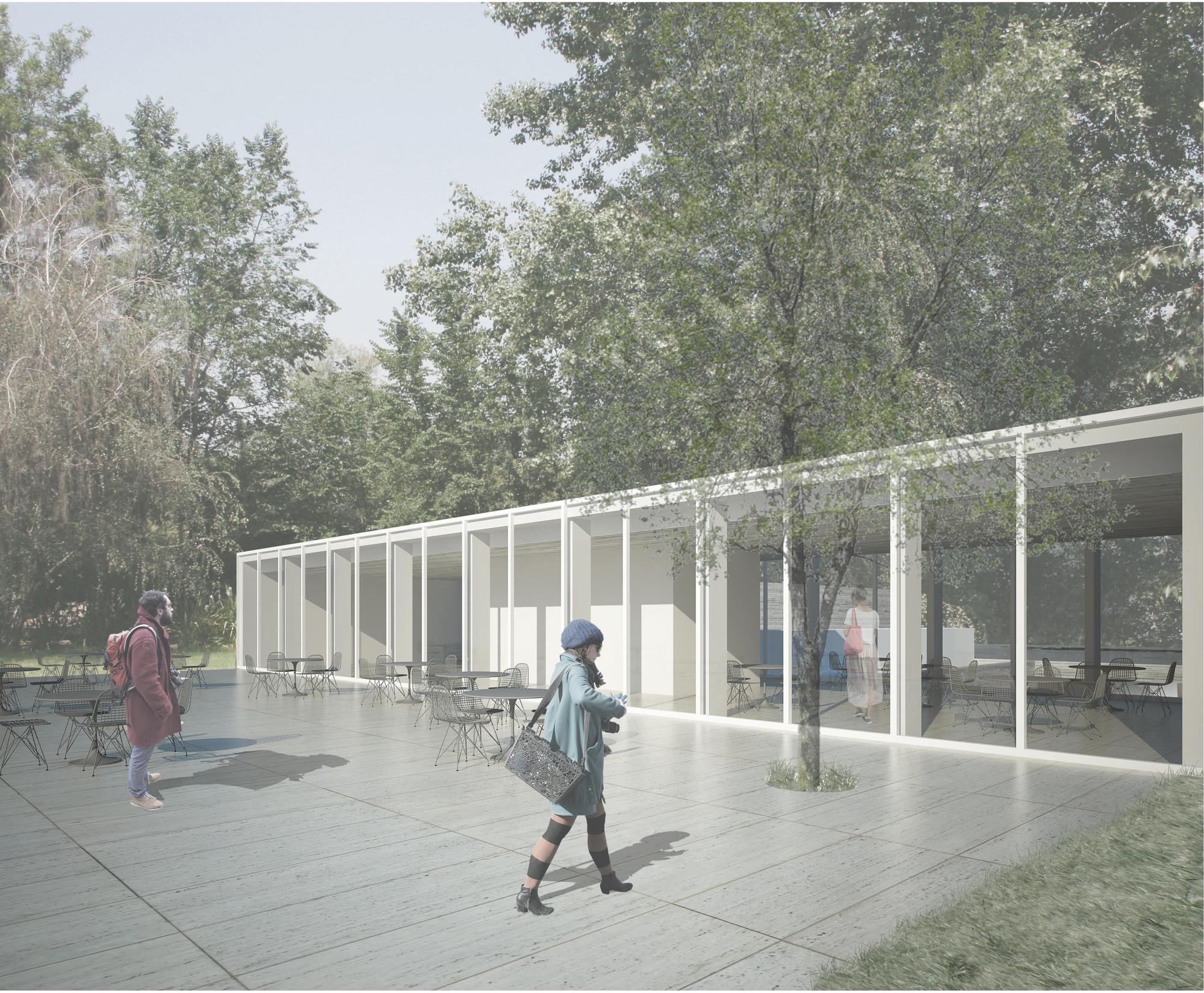 Terraza y cafetería. Image Courtesy of Albert Tidy Arquitectos