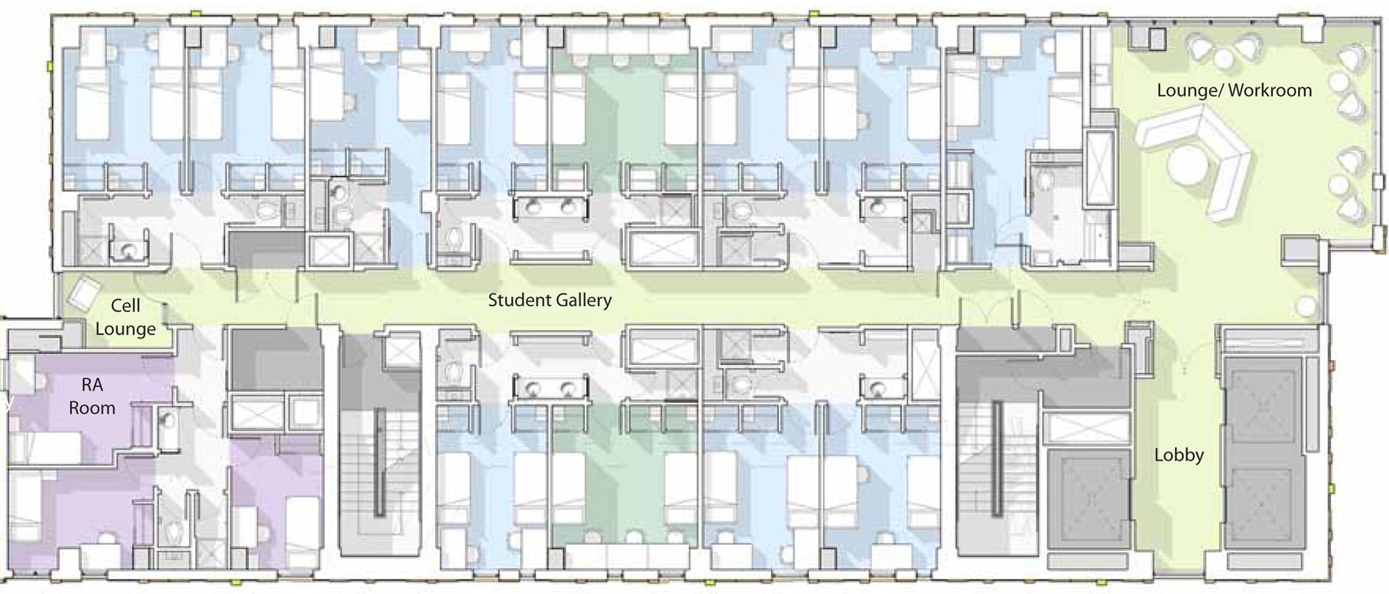 Admin Building Floor Plan Student Dorm Floor Plan