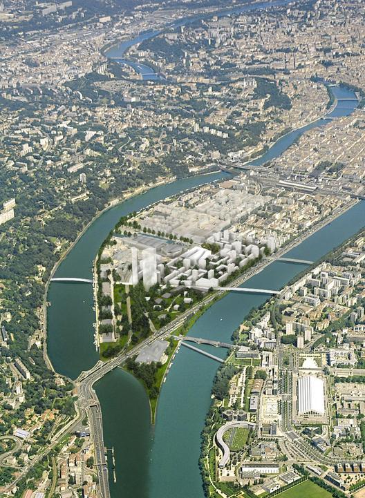 Lyon Confluence. Image Courtesy of Herzog & de Meuron