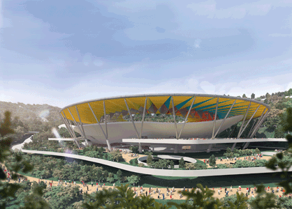 The proposed football stadium. Image Courtesy of the municipality of Caracas