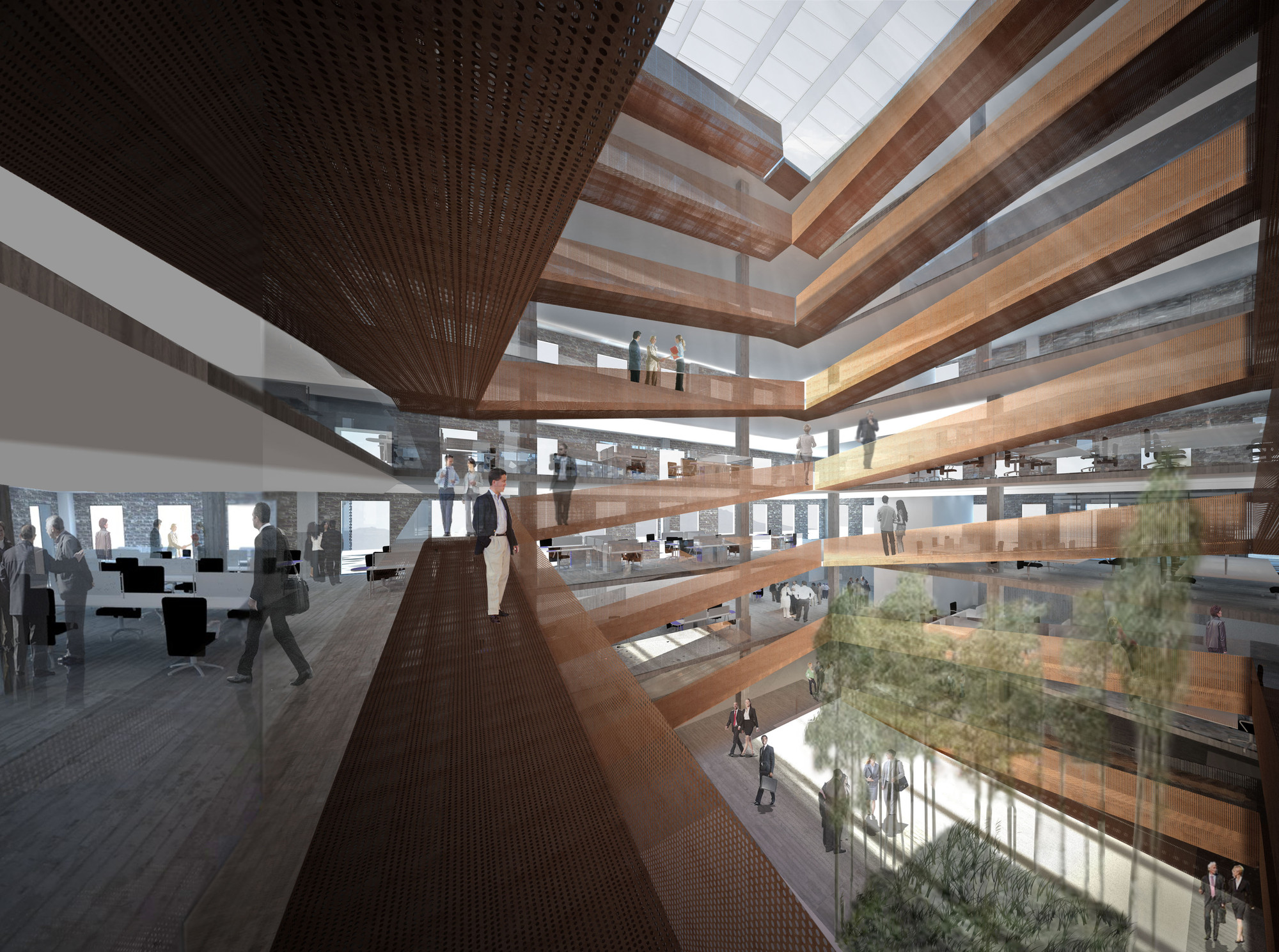 Render Vista Interior. Image Courtesy of Gubbins Arquitectos