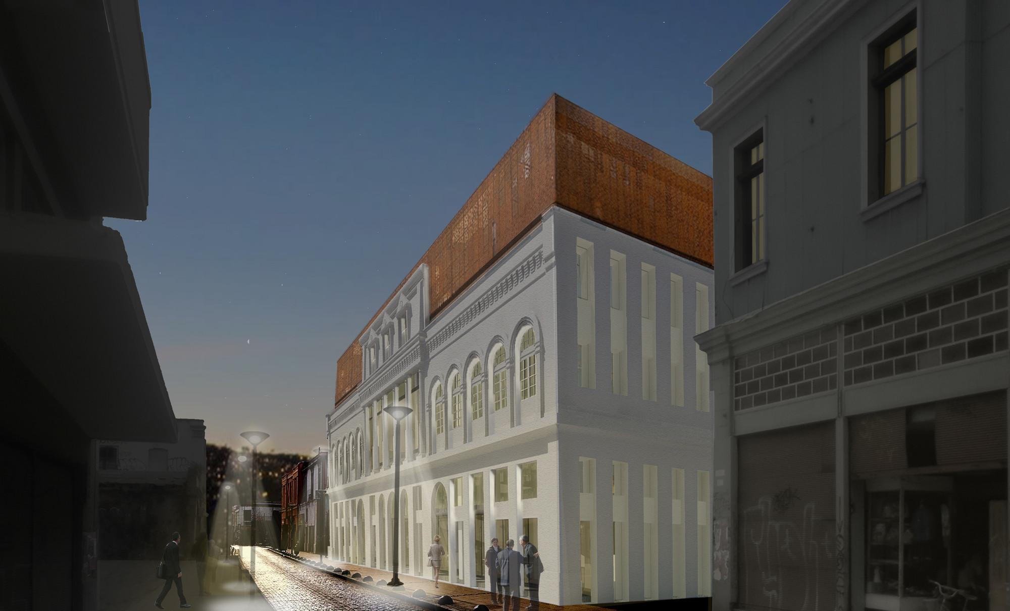 Render Vista Exterior. Image Courtesy of Gubbins Arquitectos