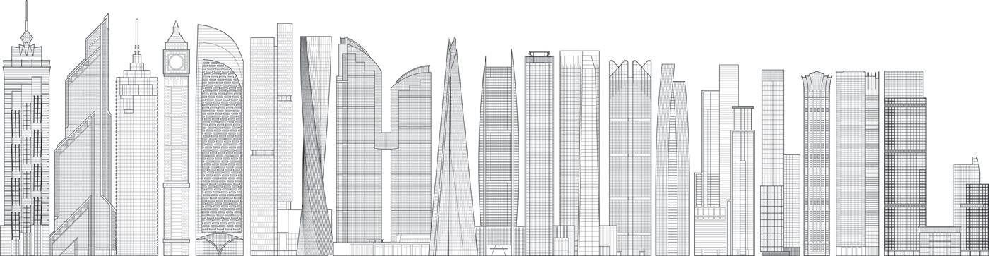 20 edificios construidos en el el 2013. Image © CTBUH | Tall Buildings in Numbers