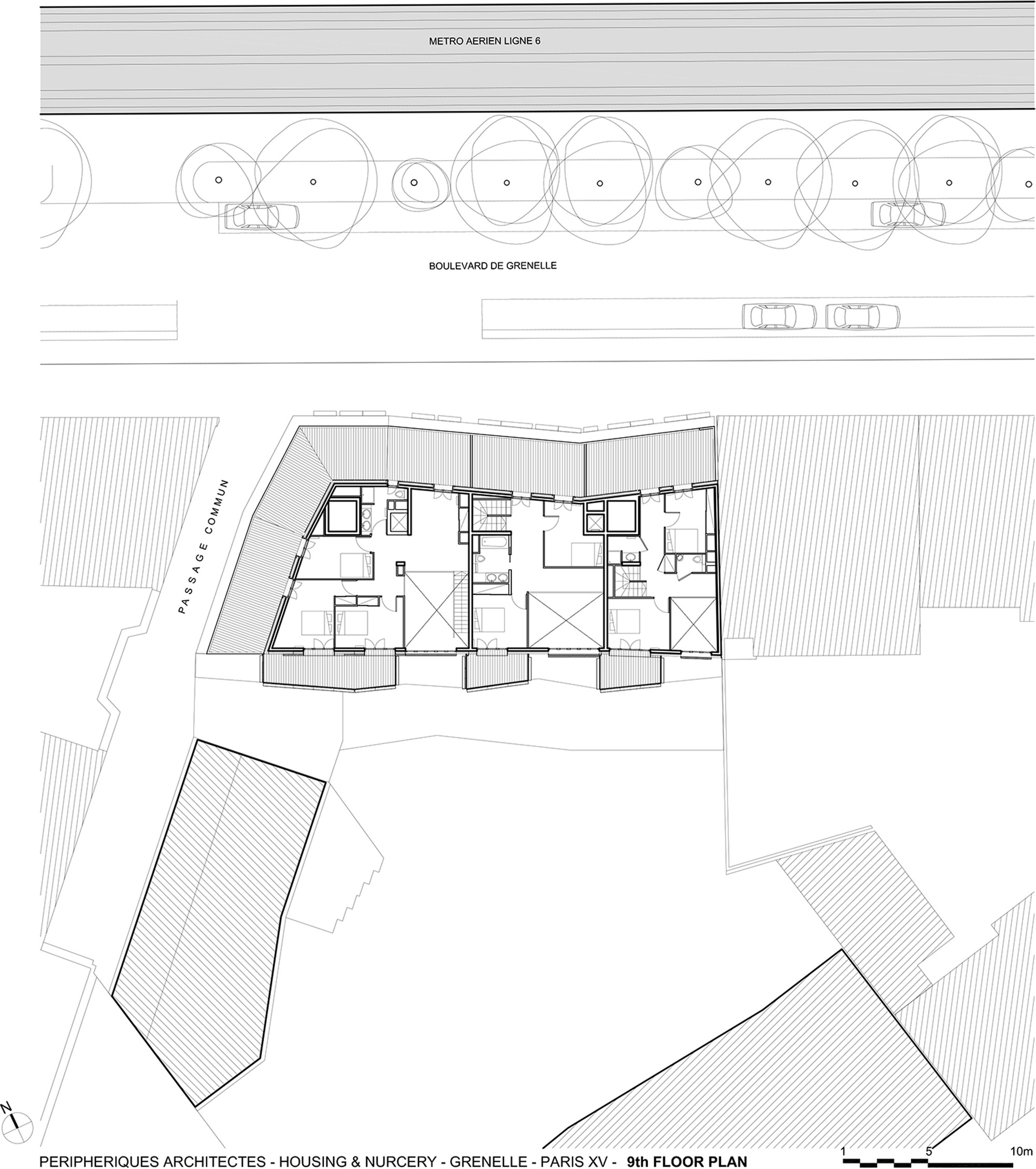 Stunning grenelle logementsth floor plan with plan for Plan architecte en ligne gratuit