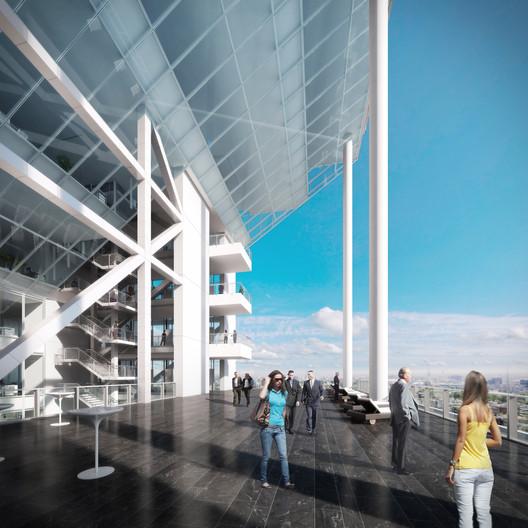 Sky Terrace and Lounge. Image Courtesy of Richard Meier & Partners