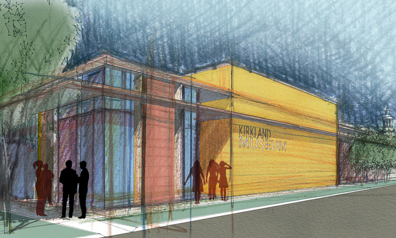 Olson Kundig Architects to Design Kirkland Museum in Downtown Denver, Kirkland Museum of Fine & Decorative Art Conceptual Sketch. Image © Olson Kundig Architects