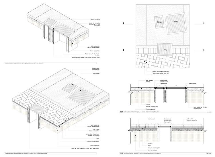 Detalle Constructivo / Encuentro Adoquín y Tanquilla