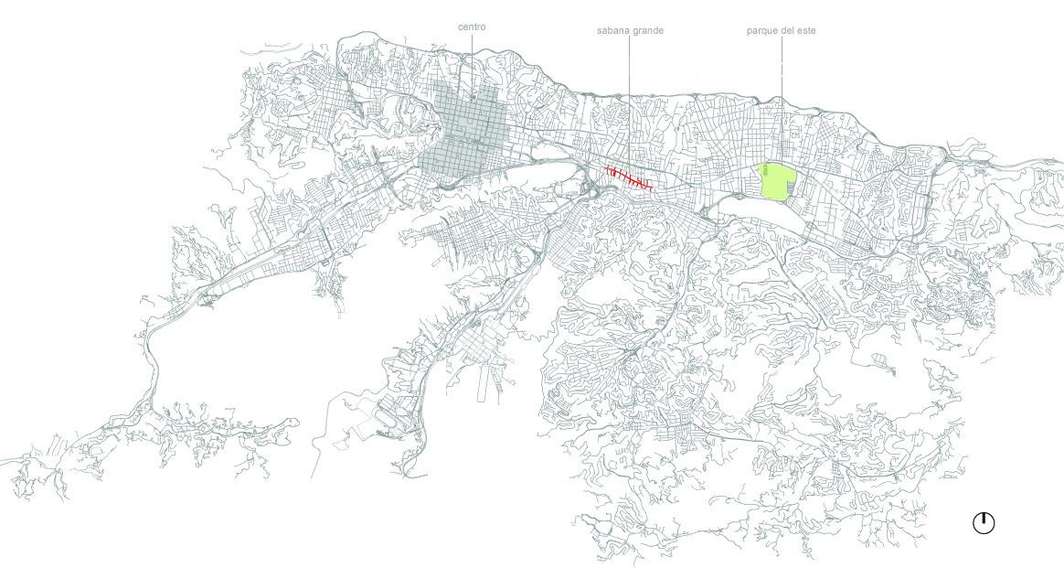 Plano de Caracas / Emplazamiento