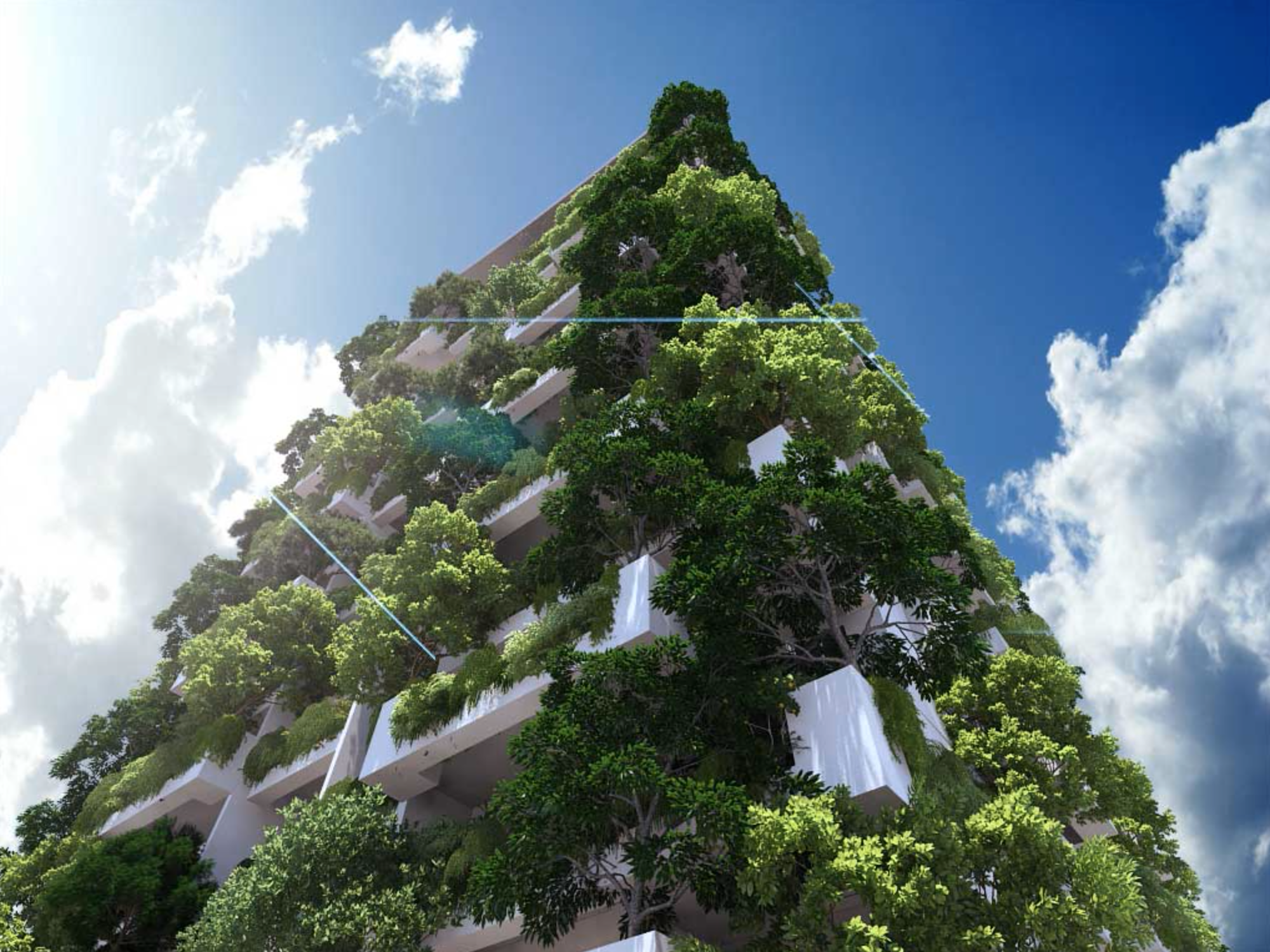 Milroy Perera Designs World's Tallest Residential Vertical Garden, Courtesy of Clearpoint / Milroy Perera