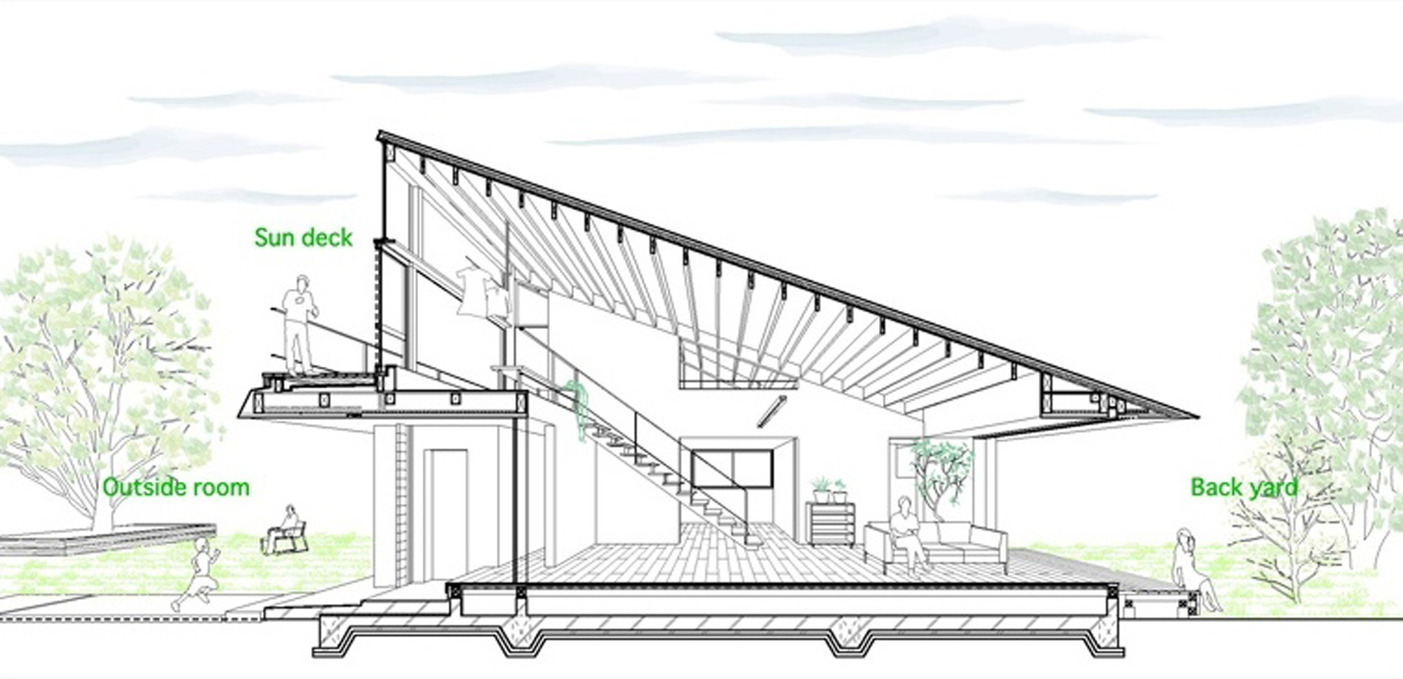 House With A Large Hipped Roof / Naoi Architecture