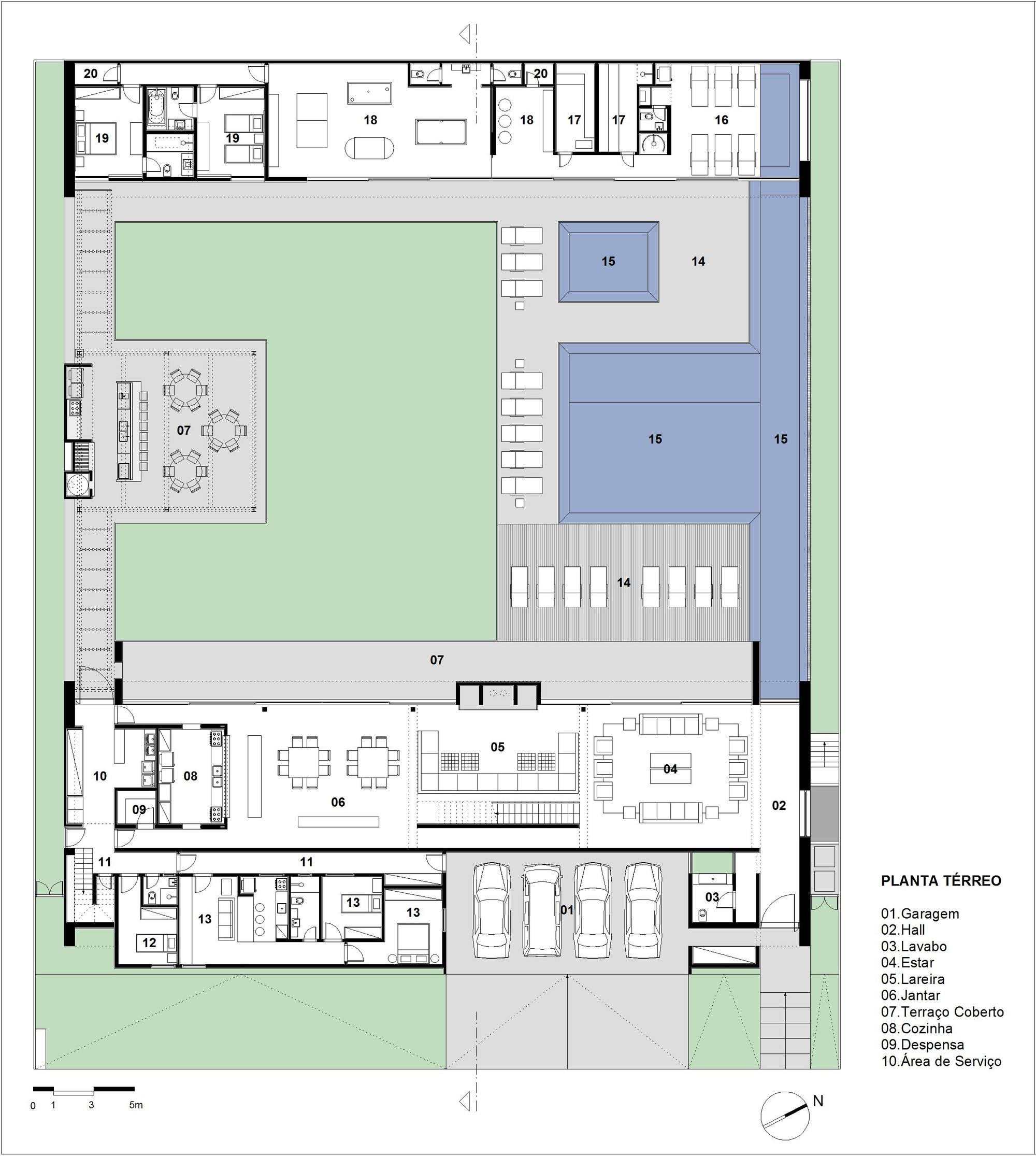 Galeria de casa mg basiches arquitetos associados 20 - Planos de casas con patio interior ...