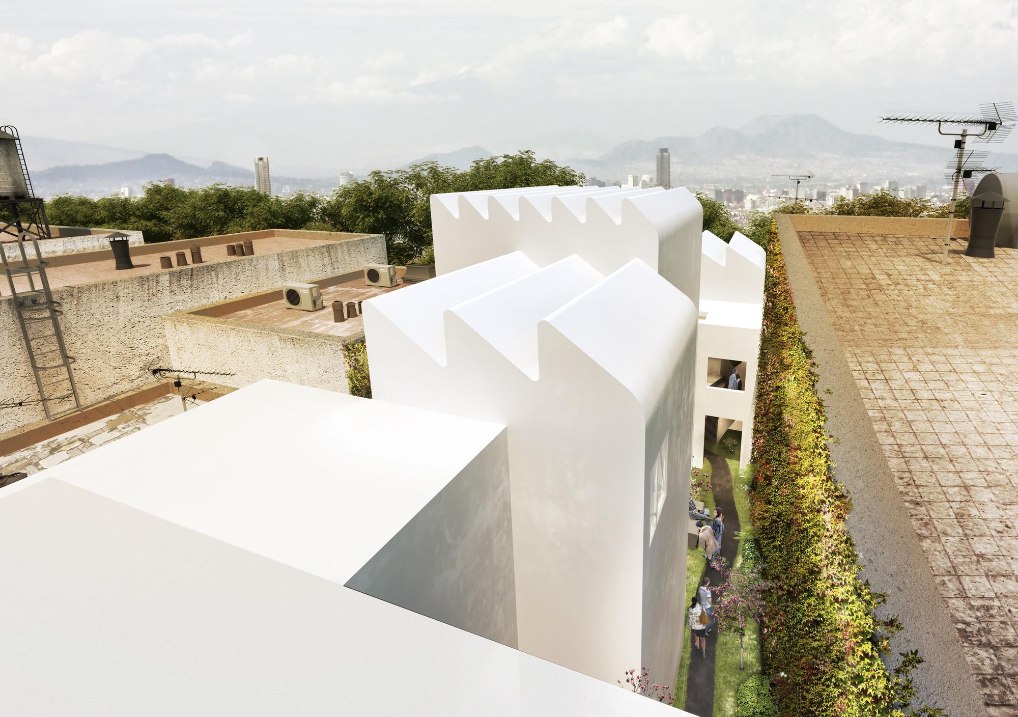 Proyecto para la Galería Patricia Conde de Zeller & Moye, Vista desde el techo. Image Courtesy of Zeller & Moye