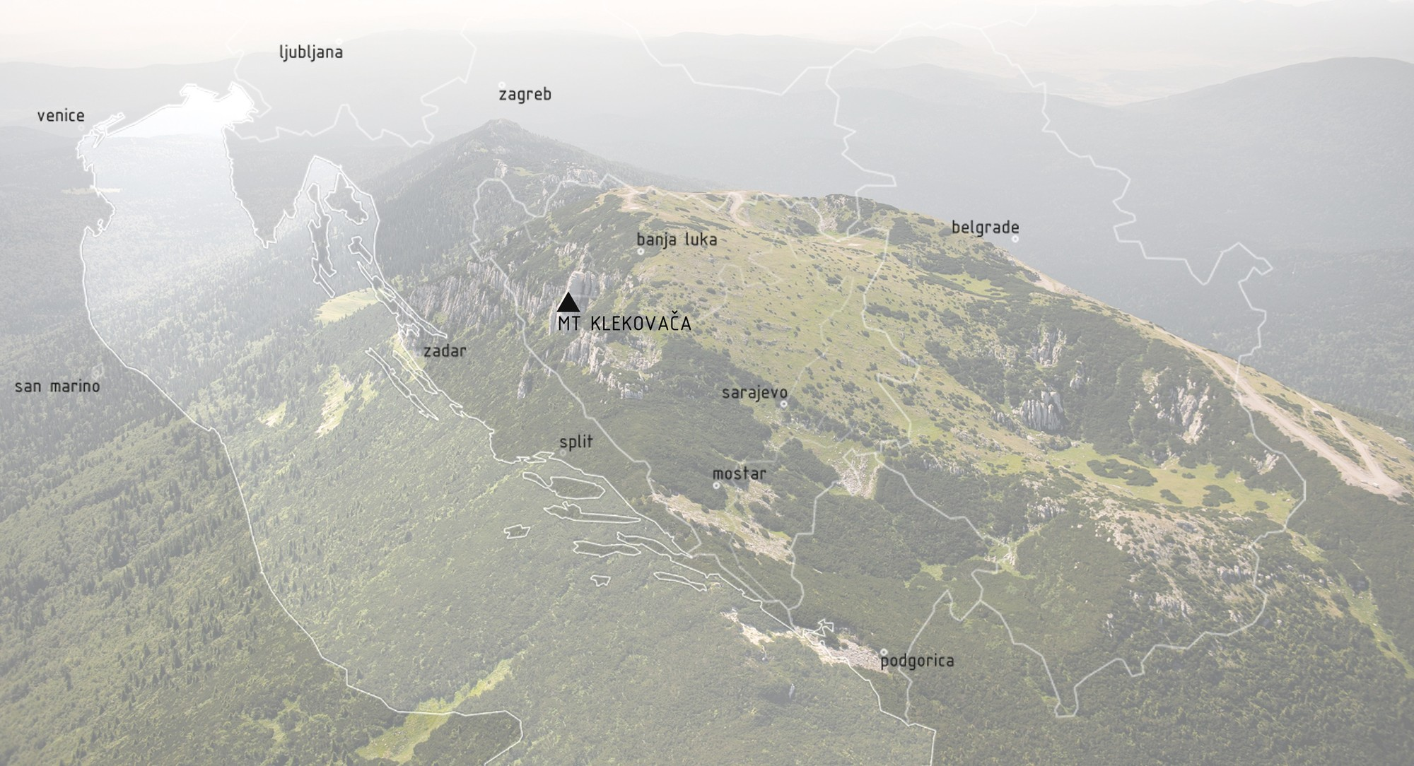 Tourist Centre on Klekovaca Mountain International Competition, Competition Site