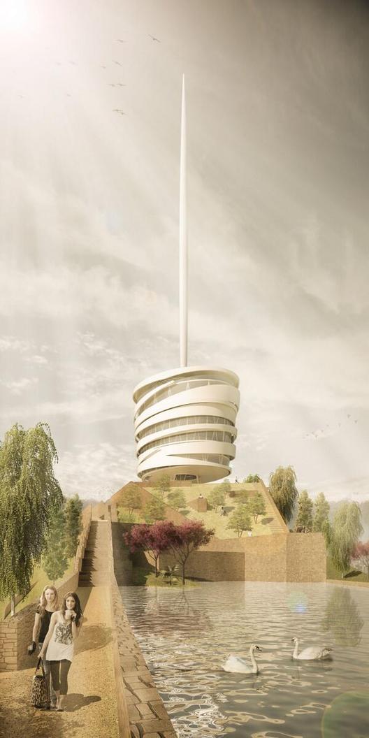 Mención Honrosa: GmasP + Saez Joannon Arquitectos. Image Courtesy of Minvu