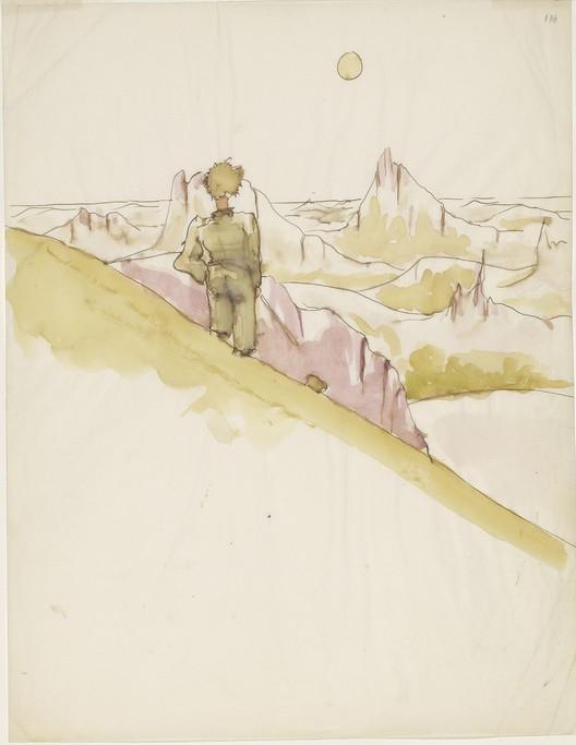 Antoine de Saint-Exupéry (1900–1944), Dibujo para El Principito. Imagen © Graham S. Haber, Cortesía de The Morgan Library & Museum, New York