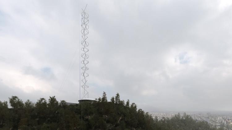 Primer Lugar Concurso Torre Antena Santiago: Smiljan Radic + Gabriela Medrano + Ricardo Serpell, Cortesía de Equipo Primer Lugar