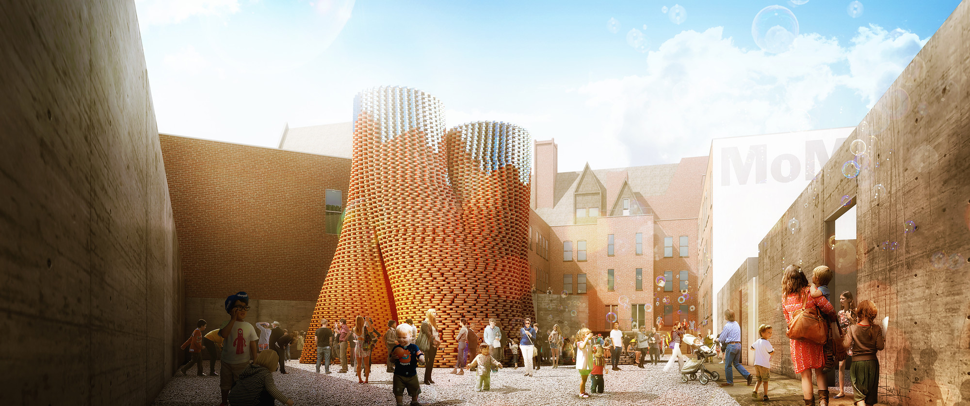 The Living Wins P.S.1 with Compostable Brick Tower, © The Living