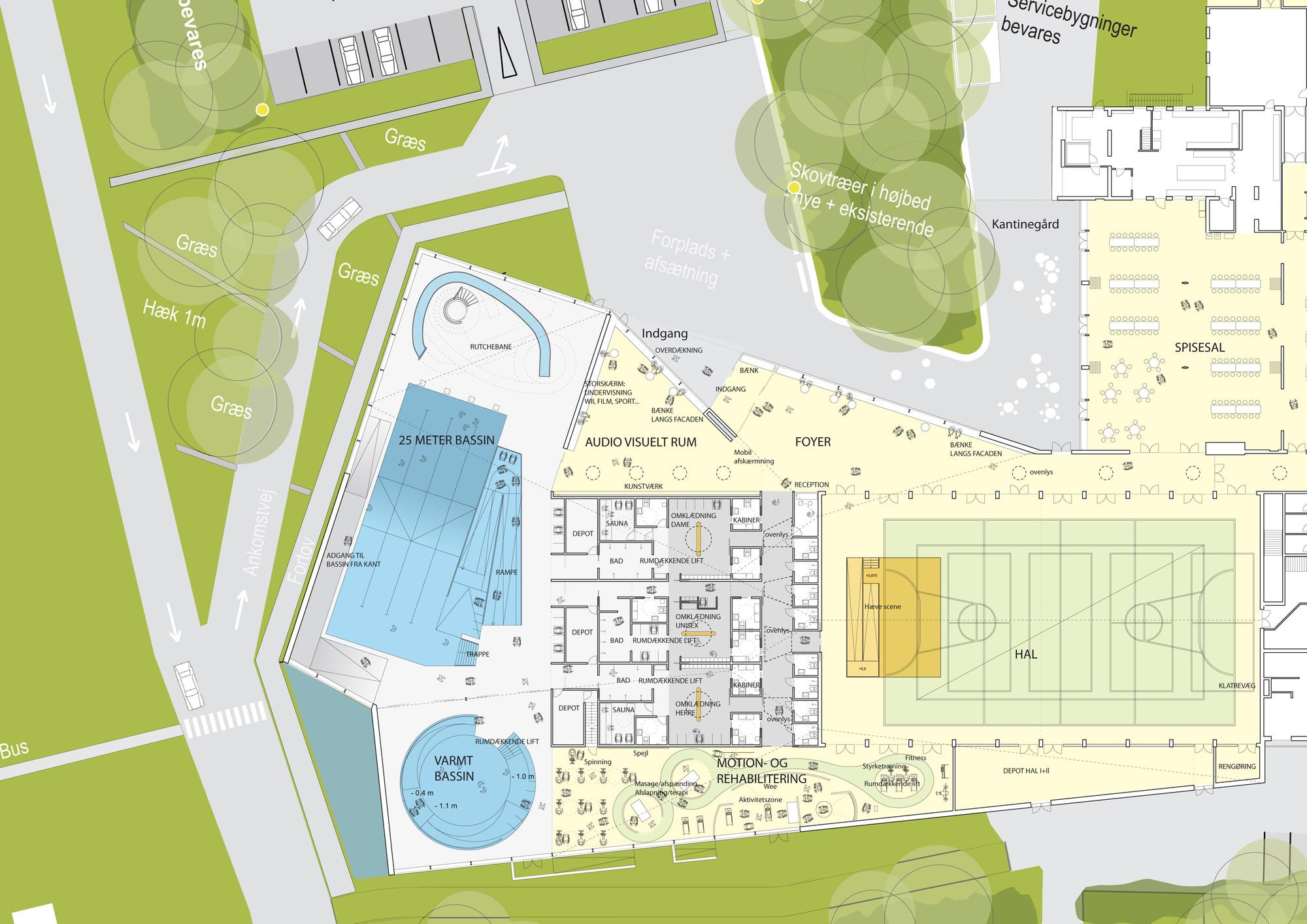 Casino Floor Plans Vandhalla Egmont Rehabilitation Centre Cubo Arkitekter