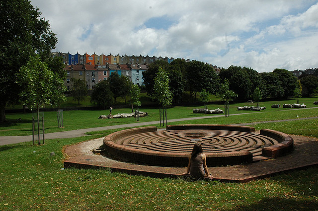 It seems Bristol's good health is partly caused by its abundant, high quality green space. Image © Richard Craig