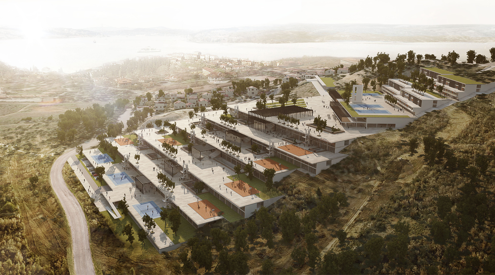 Ziya Imren Wins Competition for Instanbul's Beykoz School Complex, © Ziya Imren Architects