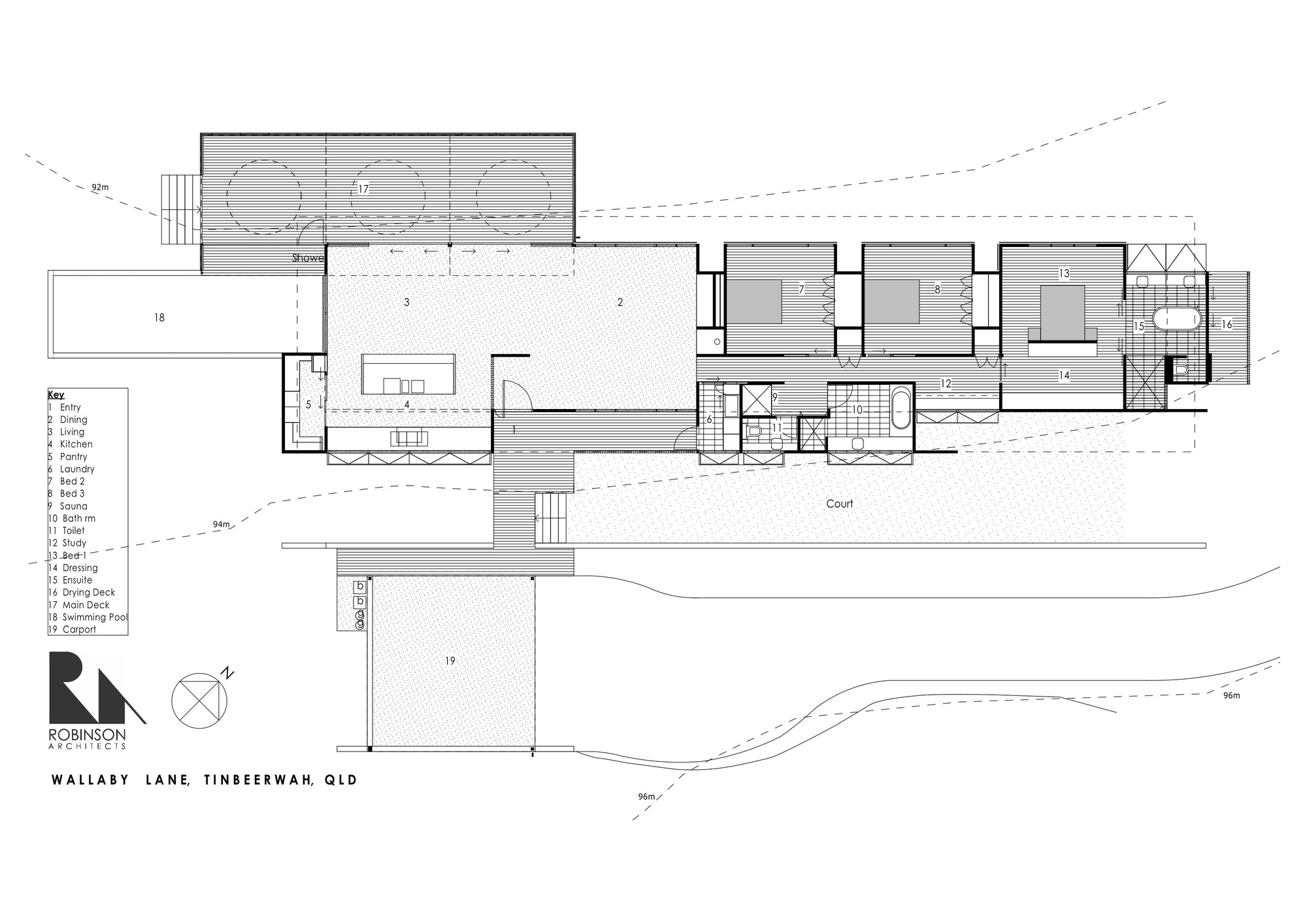 Wallaby lane house robinson architects archdaily for Form house plan