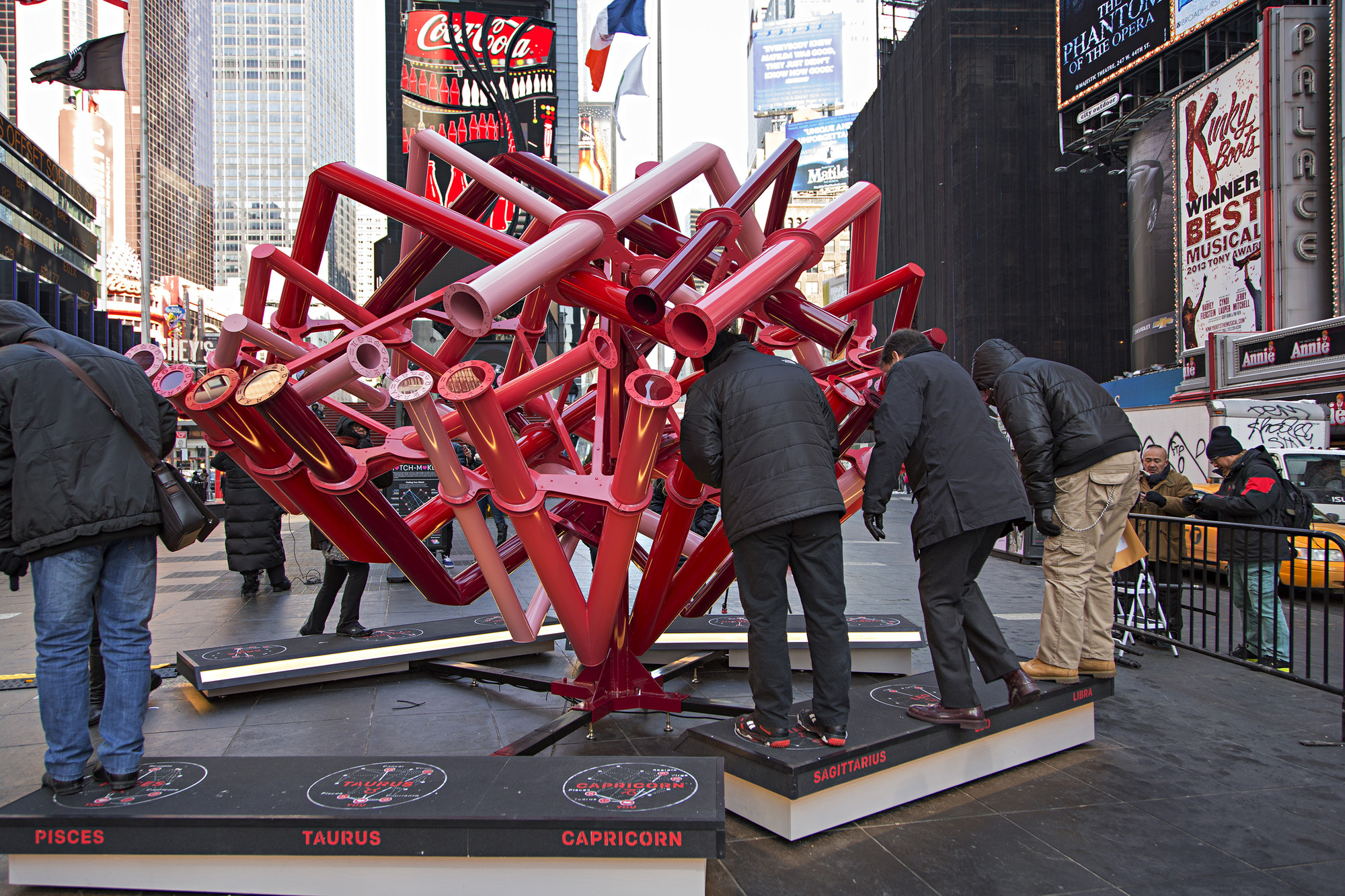 "Young Projects Play ""Match-Maker"" in Times Square, © Ka-Man Tse for Times Square Arts"