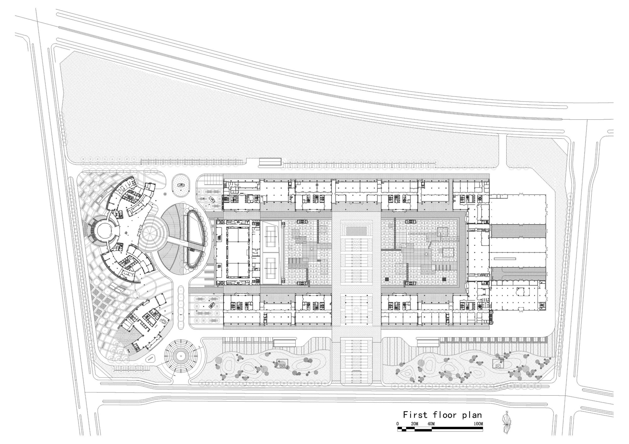 Zoom image view original size with plan maison 100m for Plan maison 100m