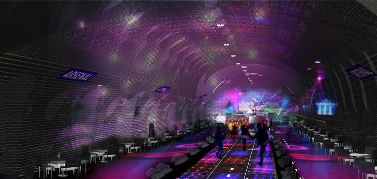 Estación Arsenal en Paris como Disco. Imágen Cortesía de Manal Rachdi, OXO Architects & Nicolas Laisné, via IBT
