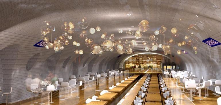 Estación Arsenal en Paris como parque restaurant. Imágen Cortesía de  Manal Rachdi, OXO Architects & Nicolas Laisné, via IBT