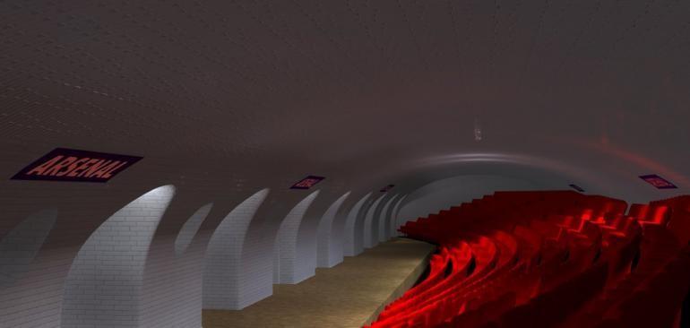 Estación  rsenal en Paris como teatro. Imágen Cortesía de   Manal Rachdi, OXO Architects & Nicolas Laisné, via IBT