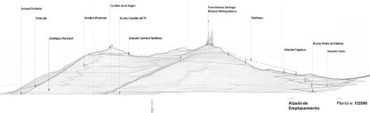 Elevación Cerro. Image Courtesy of Equipo Segundo Lugar