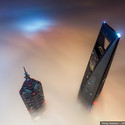 View of the Jin Mao Tower and Shanghai World Financial Center from the Shanghai Tower. Image © Vitaliy Raskalov, ontheroofscom@gmail.com
