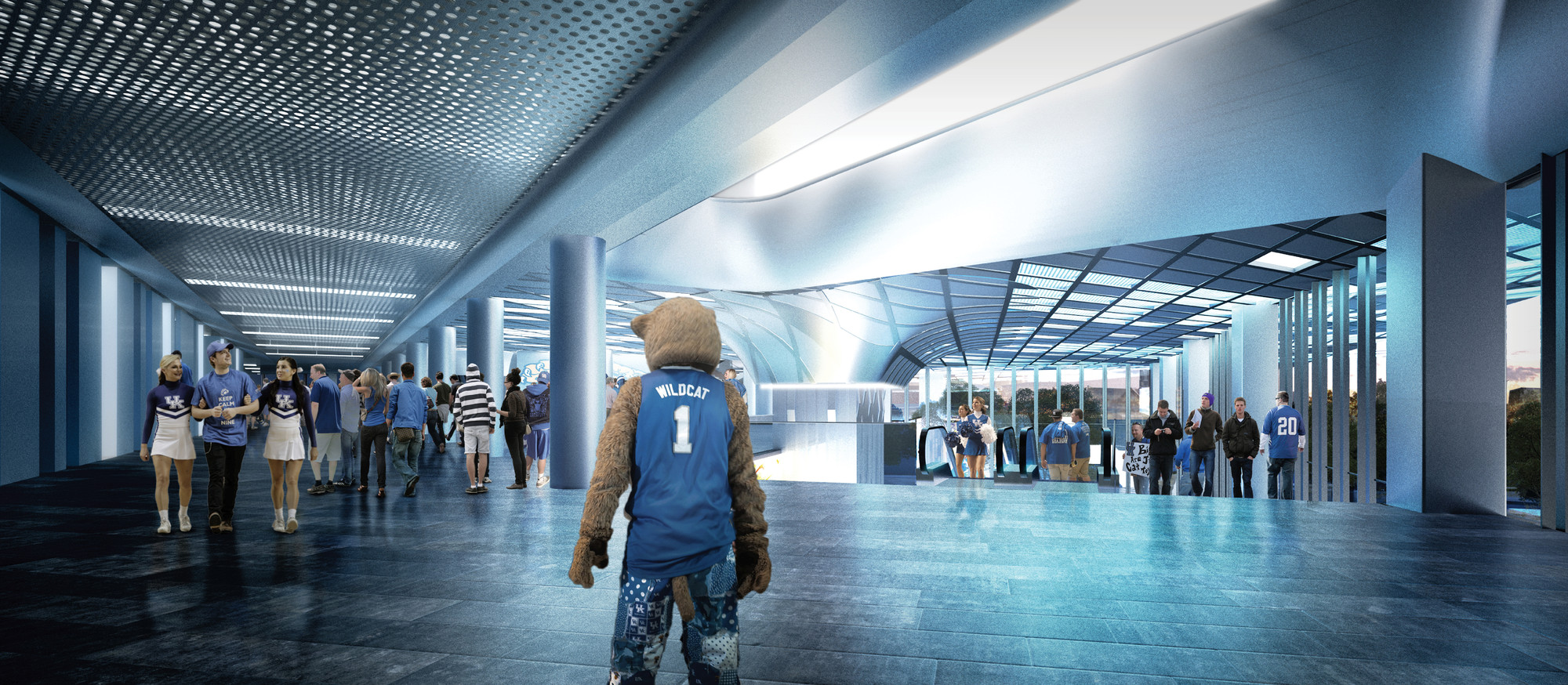 Nbbj unveils 310 million renovation for kentucky 39 s rupp for Renovation drawings