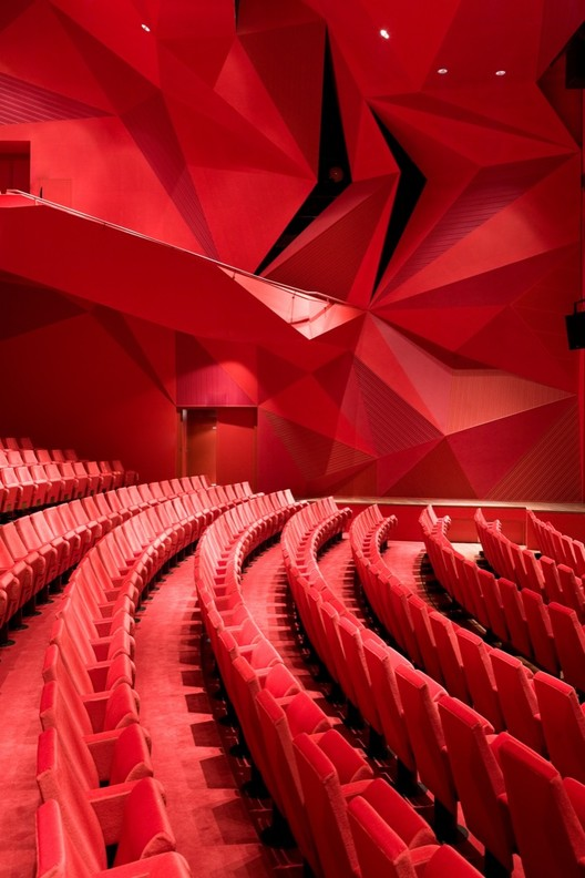 A Dozen Red Details Worth Swooning Over, Theatre Agora / UNStudio © Iwan Baan