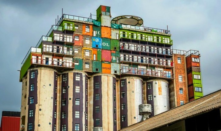 From Grain Silo to Shipping Container Student Housing, Courtesy of Citiq Property Developers, via Inhabitat