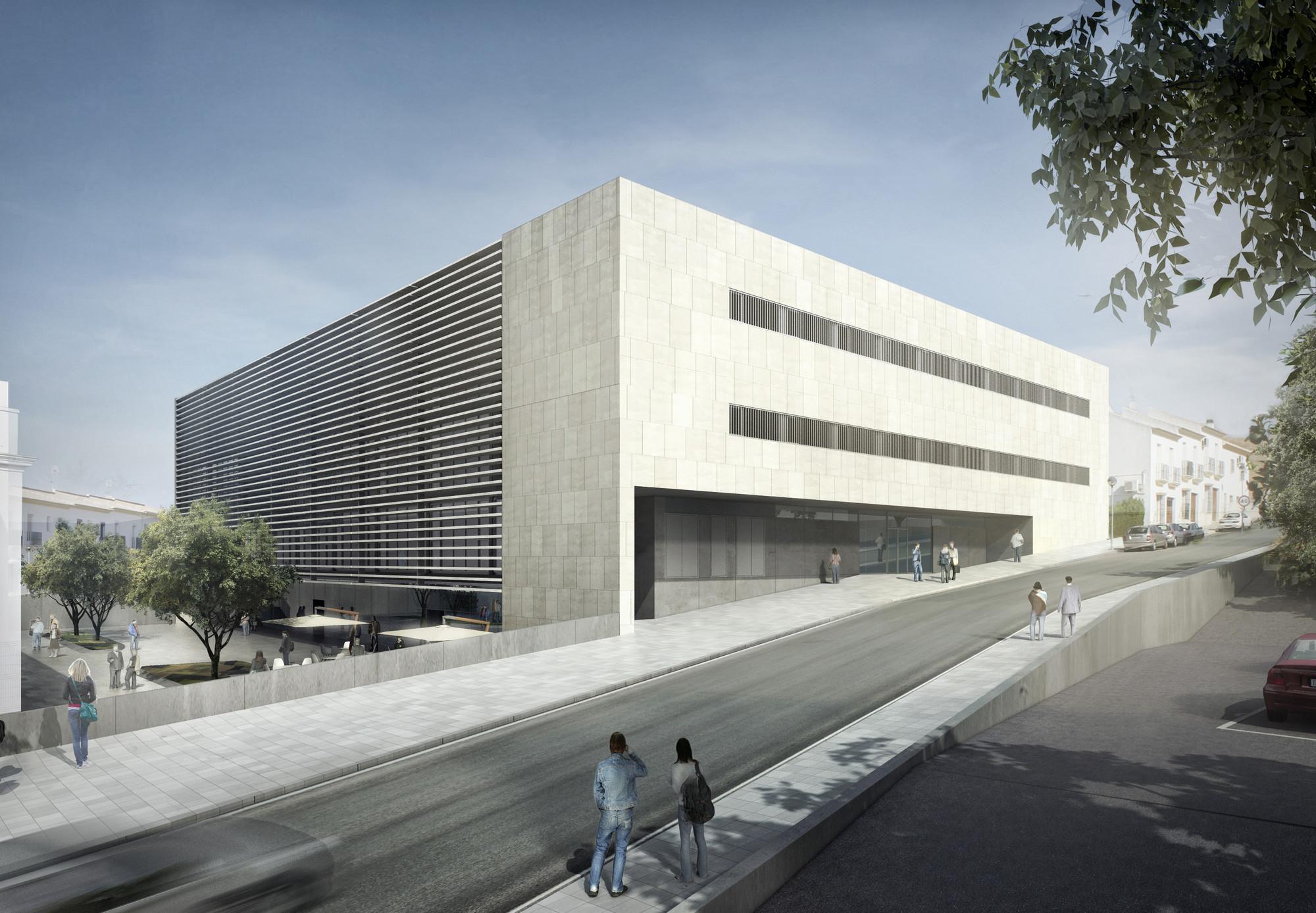 Primer Lugar Concurso para la ampliación de la Escuela Universitaria de Osuna / España, Courtesy of UNIA Arquitectos