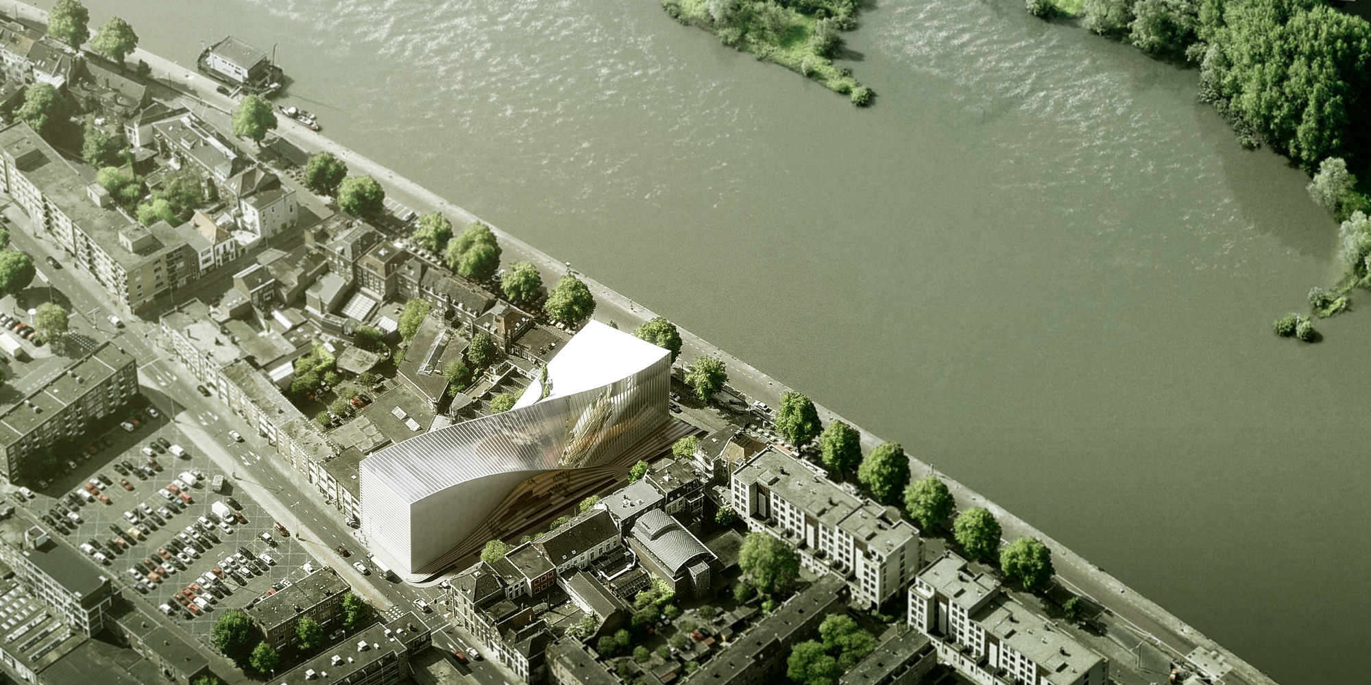 "BIG Shortlisted to Design ARTA ""Arts Cluster"" in Arnhem, Courtesy of BIG"
