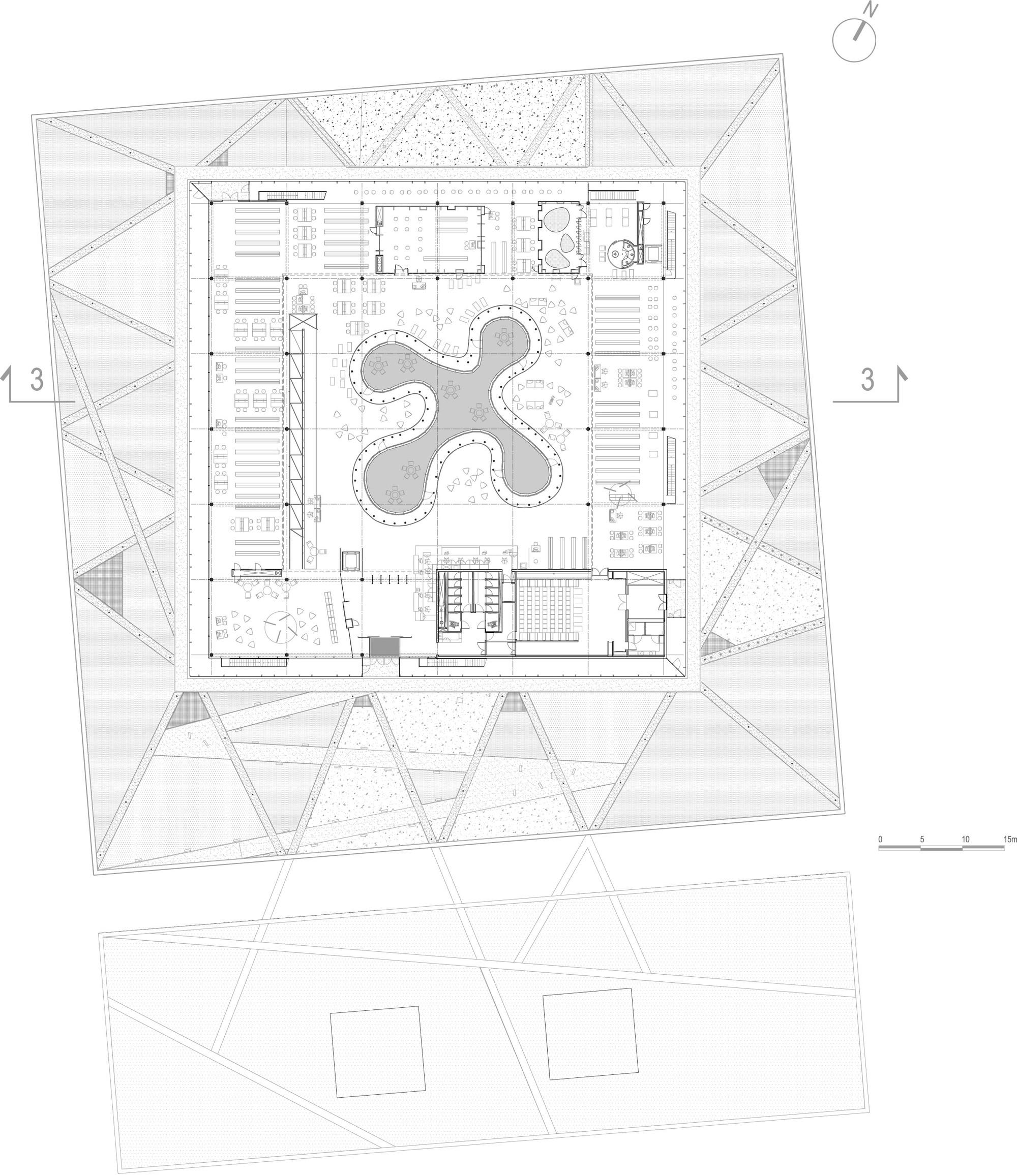gallery of mont de marsan mediatheque archi5 13. Black Bedroom Furniture Sets. Home Design Ideas