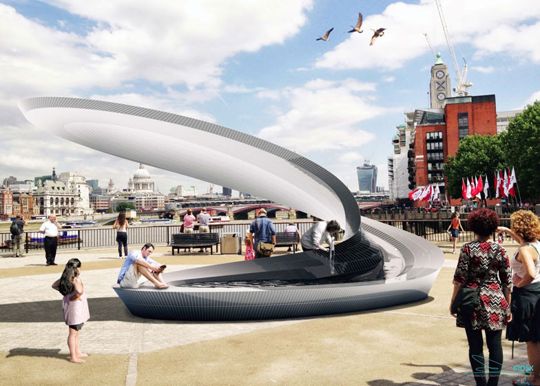 What Does a Zaha Hadid-Designed Water Fountain Look Like?, Courtesy of ZHA