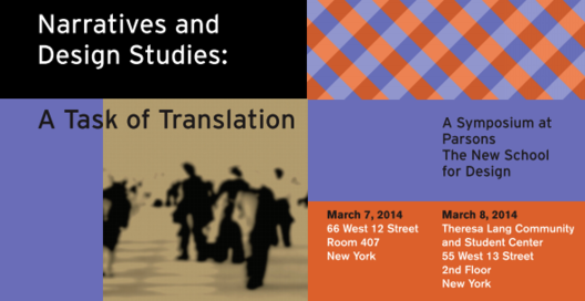 Symposium: Narratives and Design Studies: A Task of Translation